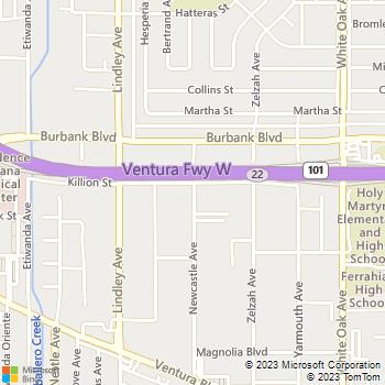 Map - IMT Encino - 5501 Newcastle - Encino, CA, 91316