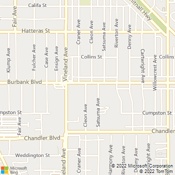 Map - Berkley Pet Hospital - 10908 Burbank Blvd - North Hollywood, CA, 91601