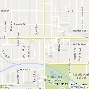 Map - Thrifty Car Rental - 6728 RESEDA BLVD - Reseda, CA, 91335