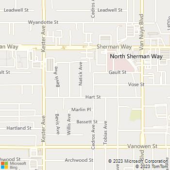 Map - Overland Plumbing - 6910 Hayvenhurst Avenue Suite - Van Nuys, CA, 91406