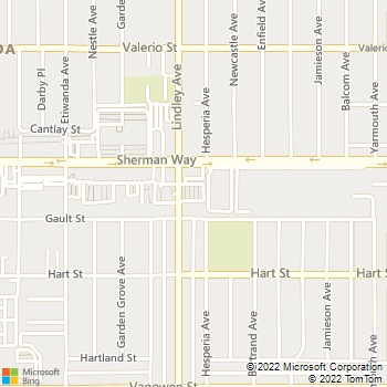 Map - Everest Institute - 18040 Sherman Way - Reseda, CA, 91335