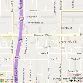 Map - San Regis - 15454 Sherman Way - Van Nuys, CA, 91406
