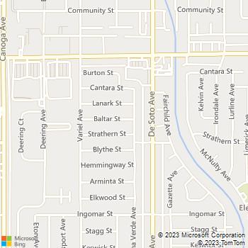 Map - MM Plumbing - 20946 Baltar Street - Canoga Park, CA, 91304