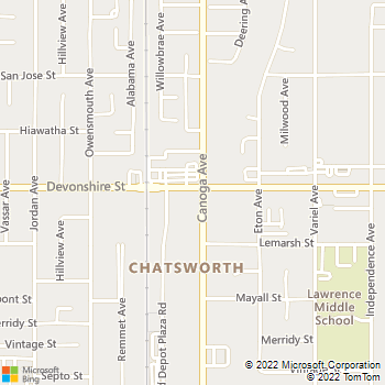 Map - BDM Electric - 8740 Cypress Creek Way - Chatsworth, CA, 91311