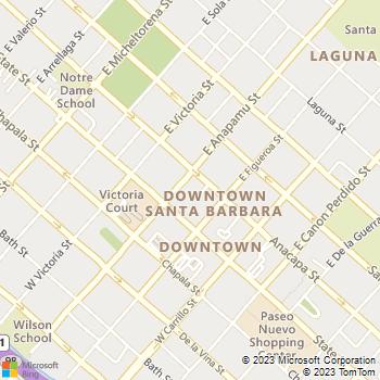 Map - Bright House Business Solutions® - 40 E. Anapamu St. - Santa Barbara, CA, 93101