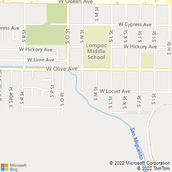 Map - Genesis 1:3 Electric - 436 South North Street - Lompoc, CA, 93436
