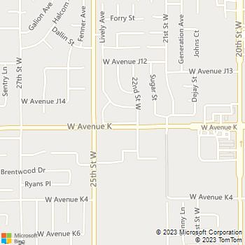 Map - Stratman Painting - 2315 West Avenue K, Suite 10 - Lancaster, CA, 93536