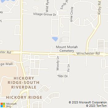 Map - Stonebrook Apartments - 6317 Winchester - Memphis, TN, 38115