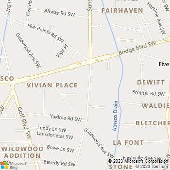 Map - P3 Plumbing, Inc. - PO Box 12324 - Albuquerque, NM, 87195