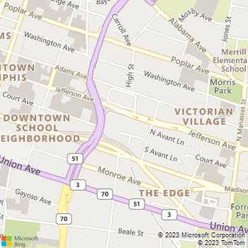 Map - The Edison Apartments - 567 Jefferson - Memphis, TN, 38105