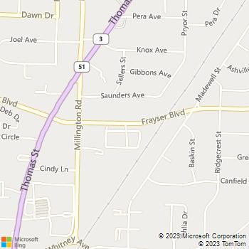 Map - Carriage House Apartments - 1145 Frayser Blvd Apt 1 - Memphis, TN, 38127