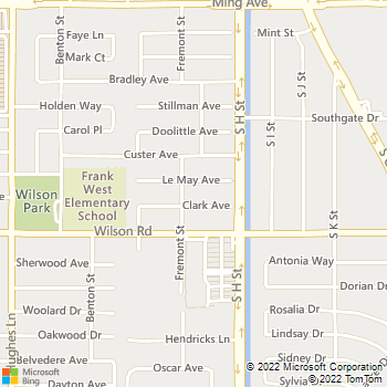 Map - White Stone Painting - 2076 White Lane PMB, Suite 283 - Bakersfield, CA, 93304