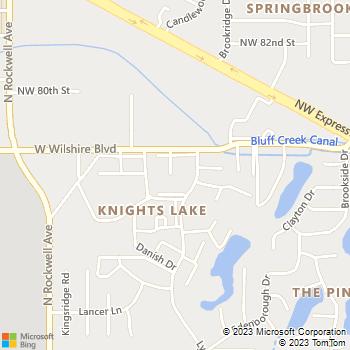 Map - Hefner Hollow - 6708 West Wilshire Blvd - Oklahoma City, OK, 73132