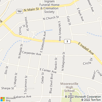Map - Village Animal Hospital - 628 Carpenter Ave - Mooresville, NC, 28115
