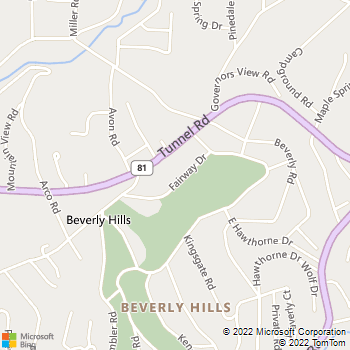 Map - Yancy Landscapes - 20 Fairway Drive - Asheville, NC, 28805