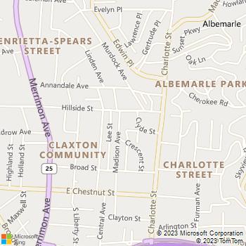 Map - J. Cox Lawn & Landscape - 102 B Madison Avenue - Asheville, NC, 28801
