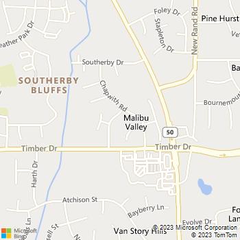 Map - J.B.'S Painting - 204 Nicholson Road - Garner, NC, 27529
