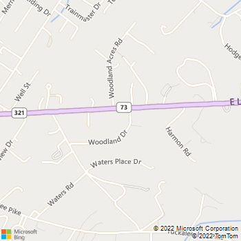 Map - Southwind Animal Hospital - 2726 East Lamar Alexander - Maryville, TN, 37804