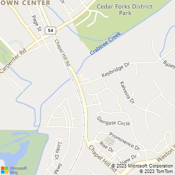 Map - Morrisville Cat Hospital - 100 Keybridge Drive - Morrisville, NC, 27560