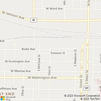 Map - TRG Jonesboro, LLC - 130 Flint St. - Jonesboro, AR, 72401