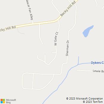 Map - Pro Plumbing Services - 434 Teebo Road - Lexington, NC, 27295