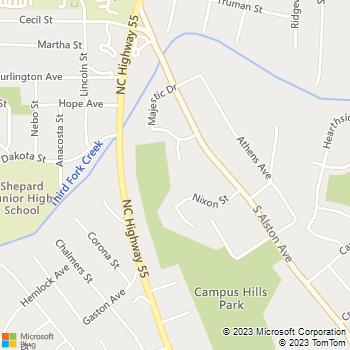 Map - Handy Larry - 1812 Primrose Place - Durham, NC, 27707