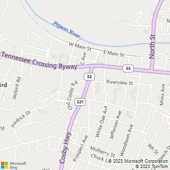 Map - Holt's Mowing - PO Box 531 - Newport, TN, 37822