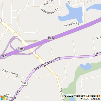 Map - Hillsdale Animal Hospital - 134 Medical Dr - Advance, NC, 27006