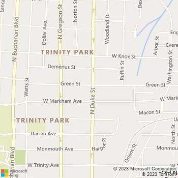 Map - Carolina Greens of North - 1111 North Duke Street - Durham, NC, 27701