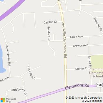 Map - Animal Hospital Of Clemmons - 2635 Neudorf Rd - Clemmons, NC, 27012