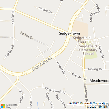 Map - Sedgefield Animal Hospital - 4740 High Point Rd - Greensboro, NC, 27407
