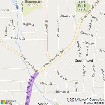 Map - Crumley Roberts, LLP - 2400 Freeman Mill Rd - Greensboro, NC, 27406