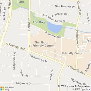 Map - Greensboro Locksmith - 3334 West Friendly Avenue - Greensboro, NC, 27410