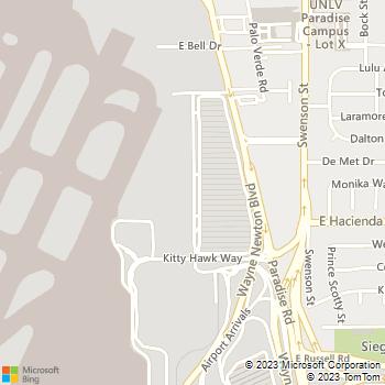 Map - Thrifty Car Rental - 5301 Rent A Car Road - Las Vegas, NV, 89119