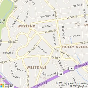 Map - American Locksmith - 950 Brookstown Ave - Winston Salem, NC, 27101