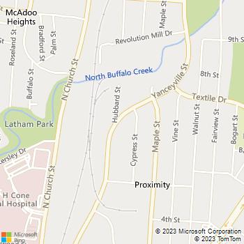 Map - DMLS, Inc. - PO Box 14885 - Greensboro, NC, 27415