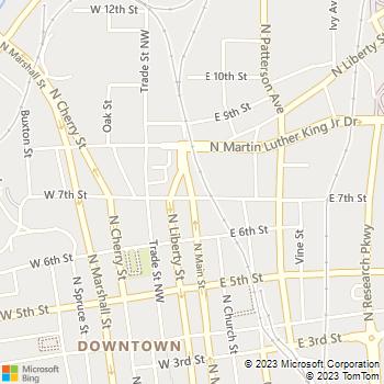 Map - Ma'ati Spa - 707 North Main St - Winston Salem, NC, 27101