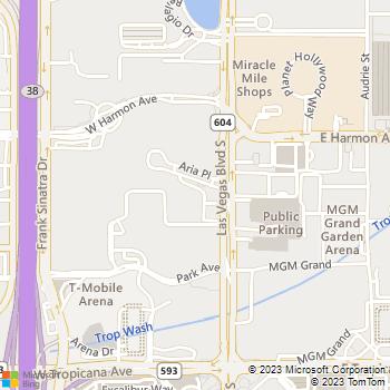 Map - Dollar Rent A Car - 3752 South Las Vegas Blvd - Las Vegas, NV, 89109