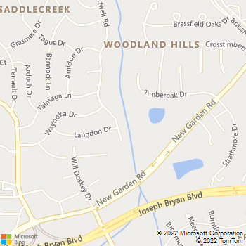 Map - Herndon Lawn - 2800 Bardwell Road - Greensboro, NC, 27410