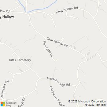 Map - Rutherford Construction - 173 Twin Gate Lane - La Follette, TN, 37766