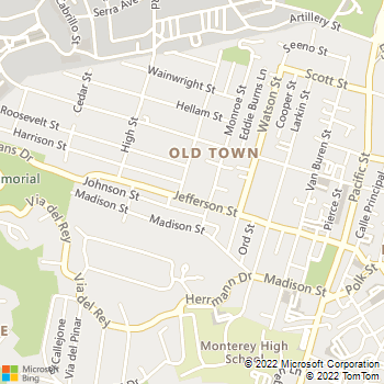 Map - Peregrine Landscape - 866 Jefferson Street - Monterey, CA, 93940
