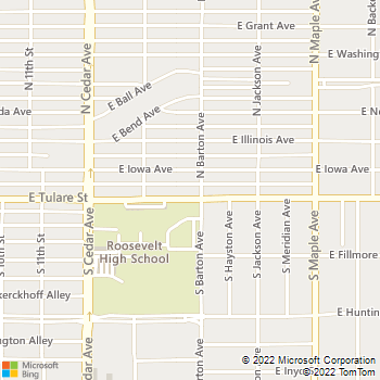 Map - Bright House Business Solutions® - 4475 East Tulare Street - Fresno, CA, 93702