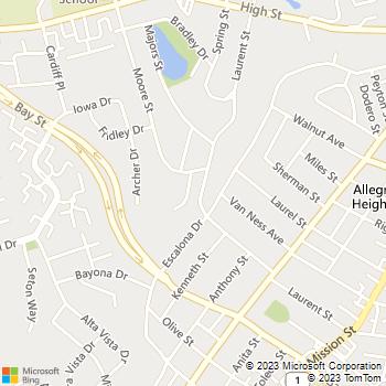 Map - J. Brent Baker Flooring - 115 Rulofson Street - Santa Cruz, CA, 95060
