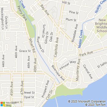 Map - D'Angelo Construction - PO Box 1359 - Capitola, CA, 95010