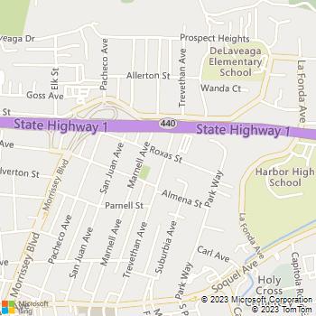 Map - Roemke Electric, Inc. - 320 Roxas Street - Santa Cruz, CA, 95062