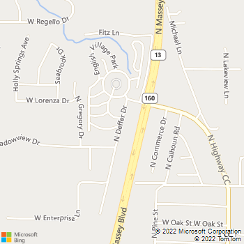 Map - James River Animal Hospital - 1870 North Deffer - Nixa, MO, 65714