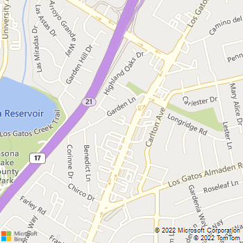 Map - KinesioFit Physical Therapy - 15405 Los Gatos Blvd - Los Gatos, CA, 95032