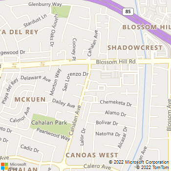Map - JCC Painting - PO Box 23311 - San Jose, CA, 95153