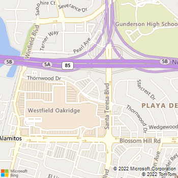 Map - VCA San Jose Veterinary Specialists - 5440 Thornwood Drive - San Jose, CA, 95123