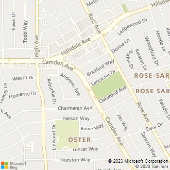 Map - C M S Plumbing - 3891 Camdon Avenue - San Jose, CA, 95124